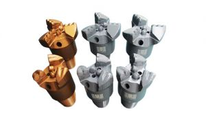 Steel body concave type 3 wings pdc drill bits for hard rock
