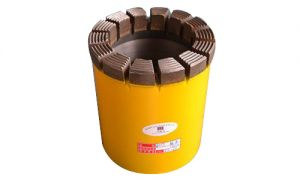 Geological drilling impregnated diamond core drill bits